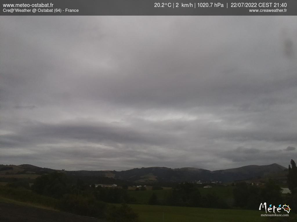 webcam d'Ostabat au Pays Basque météopassion